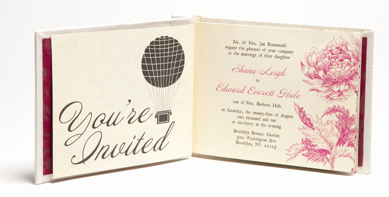 Wedding Invitation Booklet Style Awesome Shana Edward's Hardcover Book Wedding Invitations