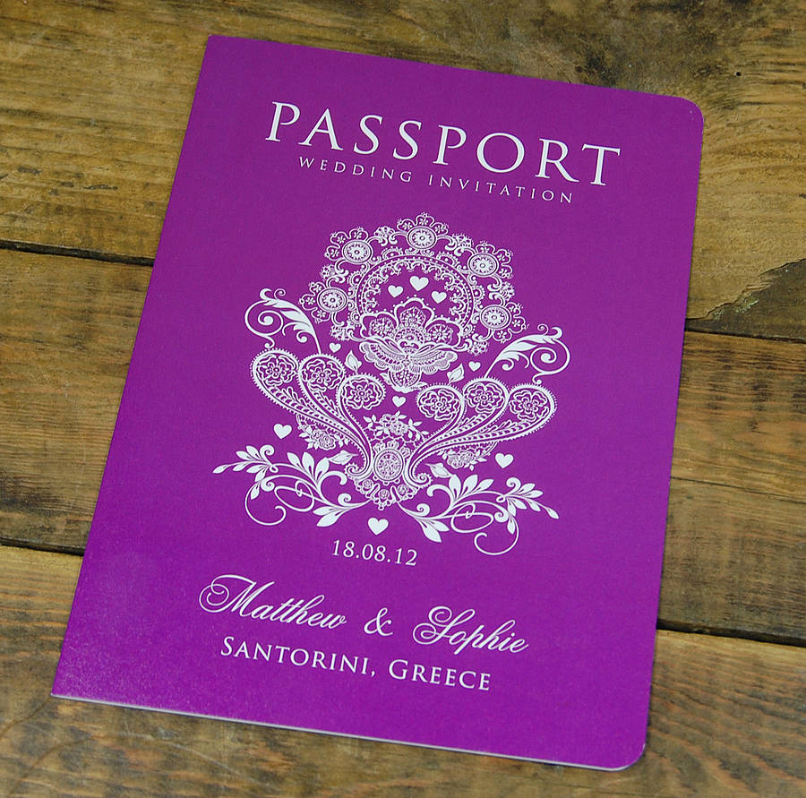 Wedding Invitation Booklet Style Beautiful Passport to Love Booklet Travel Wedding Invitation by