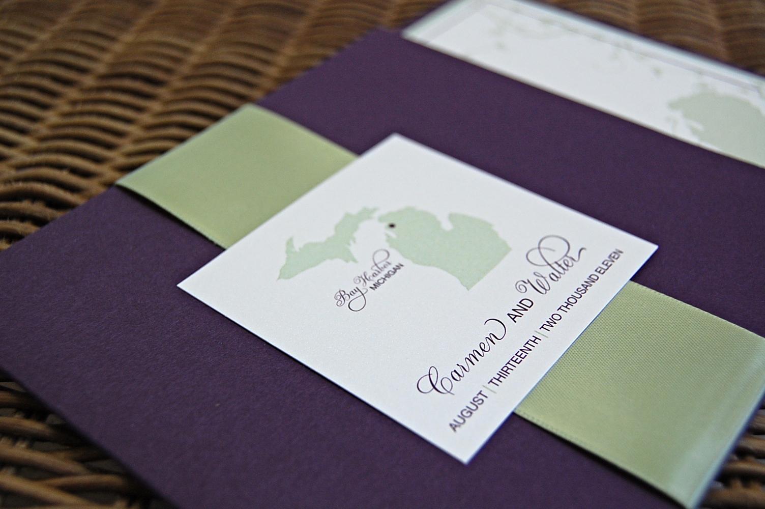 Wedding Invitation Booklet Style Elegant Booklet Style Wedding Invitations