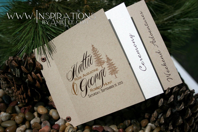 Wedding Invitation Booklet Style Elegant Wedding Invitations Booklet Style