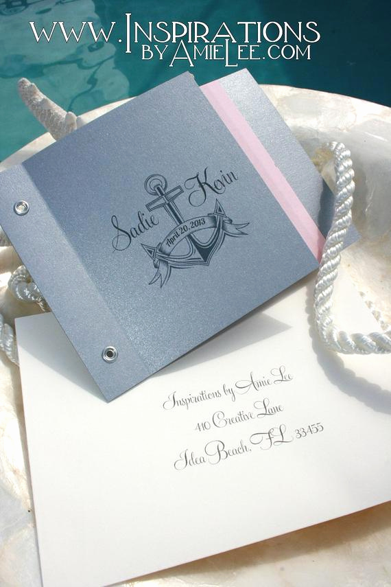 Wedding Invitation Booklet Style Lovely Booklet Wedding Invitations by Inspirationsbyamiele On Etsy
