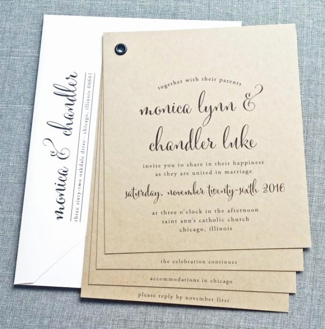 Wedding Invitation Booklet Style Lovely Monica Kraft Booklet Wedding Invitation Sample Black