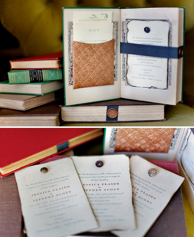 Wedding Invitation Booklet Style Lovely Vintage Books as Wedding Invitations