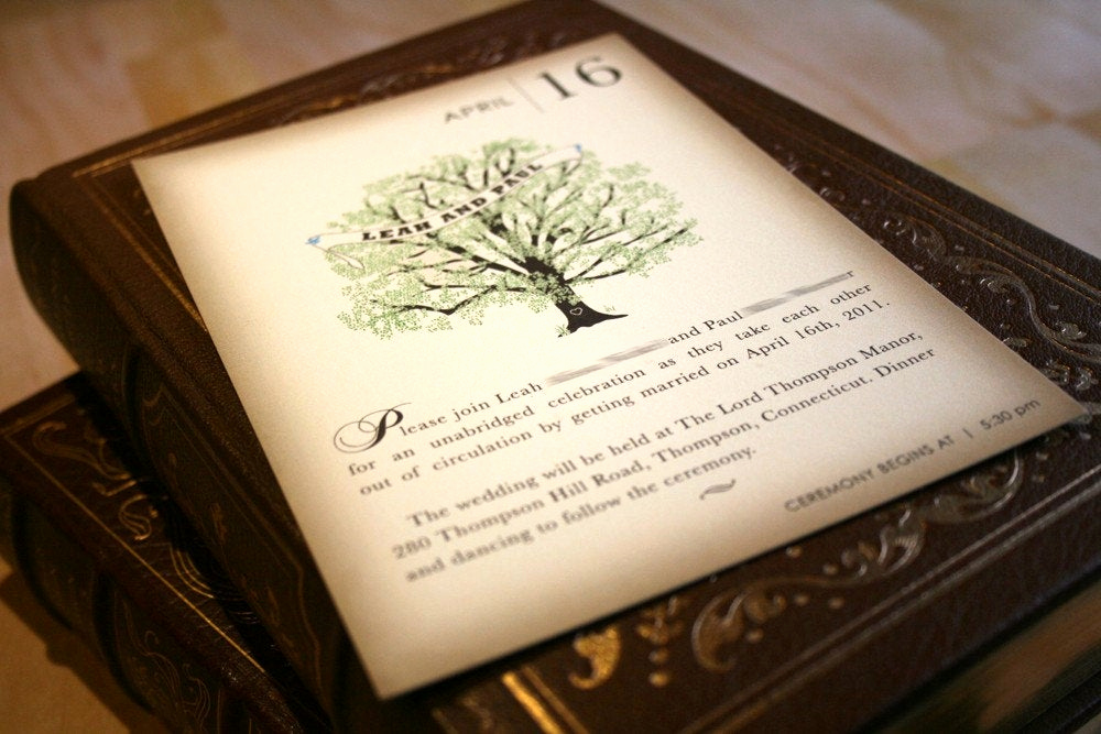 Wedding Invitation Booklet Style New Sample Vintage Book Wedding Invitation Rustic Tree