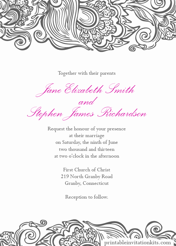 Wedding Invitation Border Design Beautiful Border Designs for Wedding Invitations