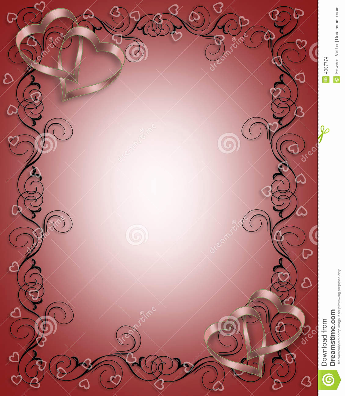 Wedding Invitation Border Design Beautiful Wedding Invitation Border Red Stock Image