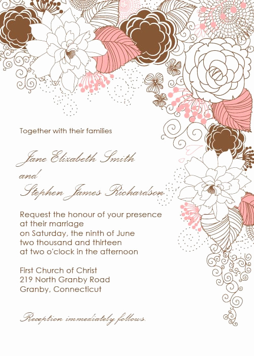 Wedding Invitation Border Design Inspirational Garden with Floral Border Wedding Invitation
