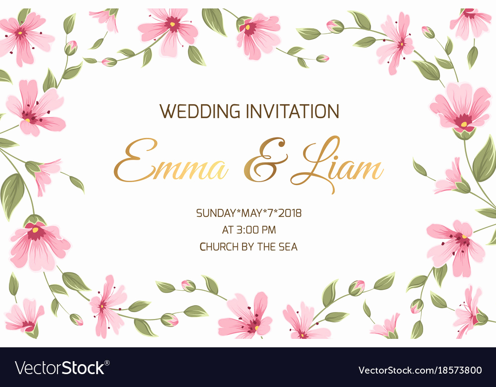 Wedding Invitation Border Design Inspirational Wedding Invitation Gypsophila Flowers Border Frame