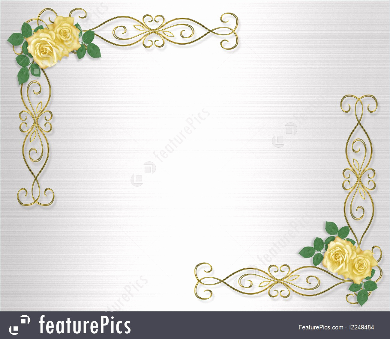 Wedding Invitation Border Design Luxury Templates Yellow Roses Wedding Invitation Border Stock