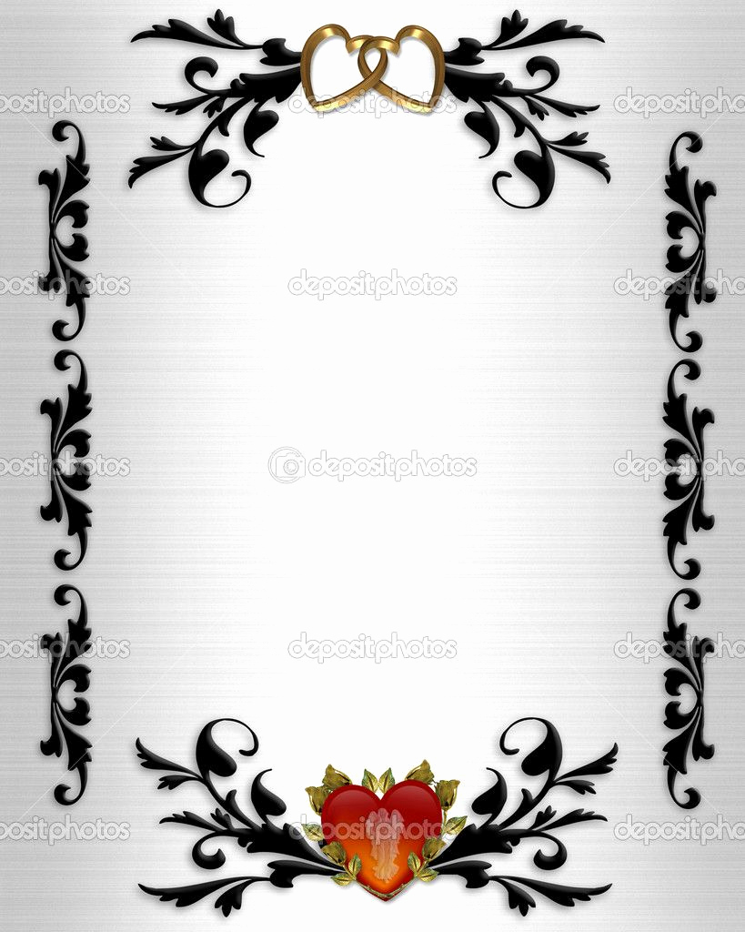 Wedding Invitation Border Design Luxury Wedding Clip Art Borders
