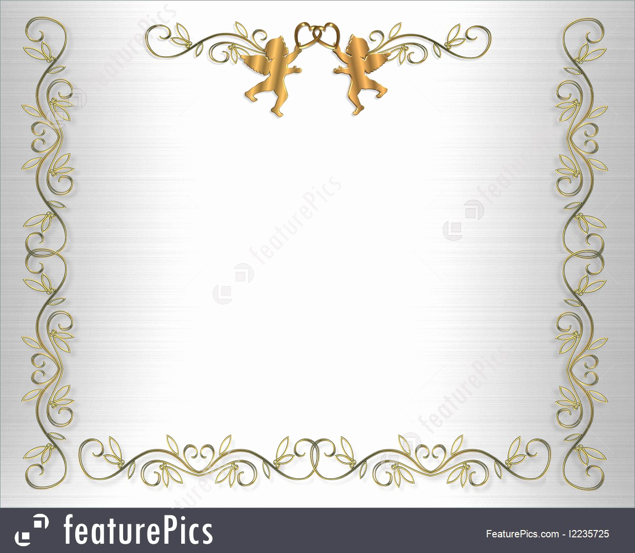 Wedding Invitation Border Design New Collection Of Free Edged Clipart Elegant Gold Border