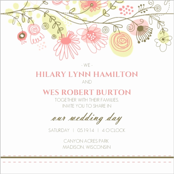 Wedding Invitation Border Design New Spring Floral Border Wedding Invitation