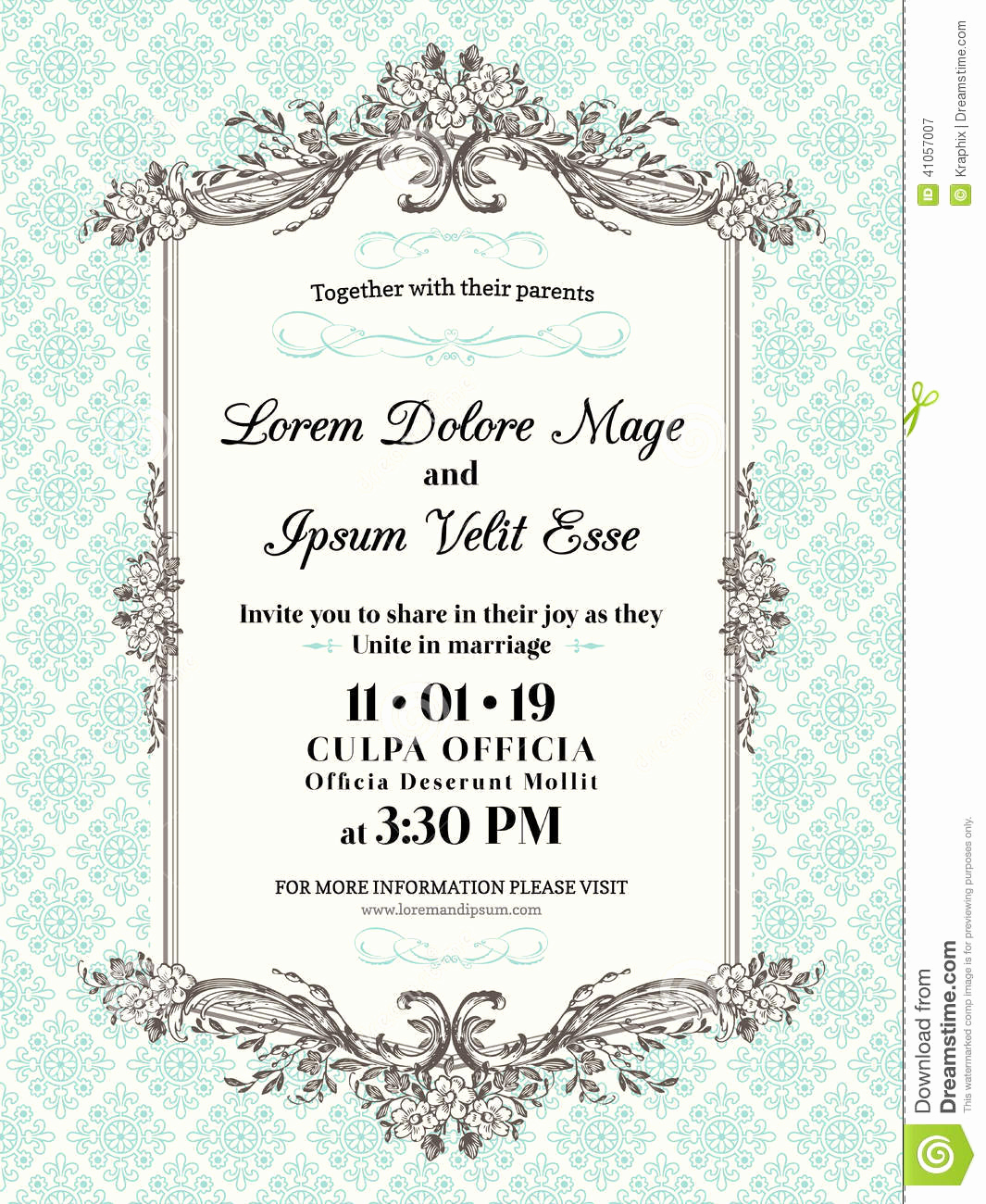 Wedding Invitation Border Design New Vintage Wedding Invitation Border and Frame Stock Vector