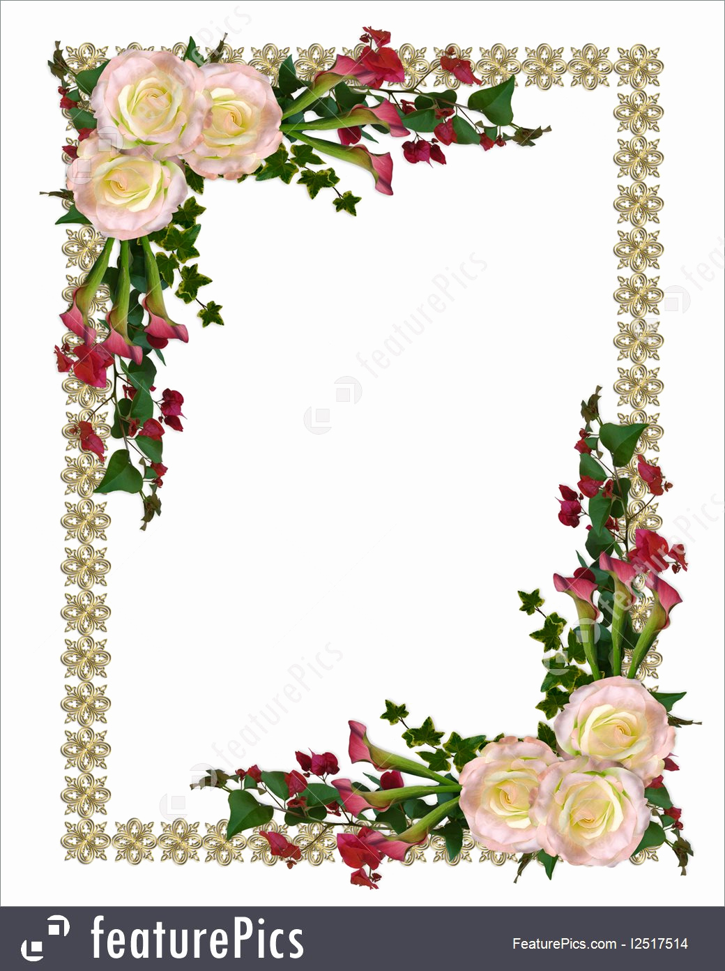 Wedding Invitation Border Design Unique Templates Wedding Invitation Floral Border Stock