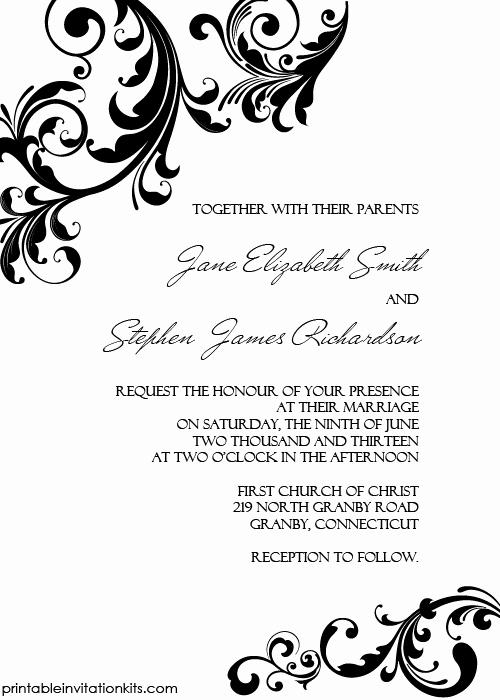 Wedding Invitation Border Designs Awesome Elegant Wedding Invitation Swirling Borders