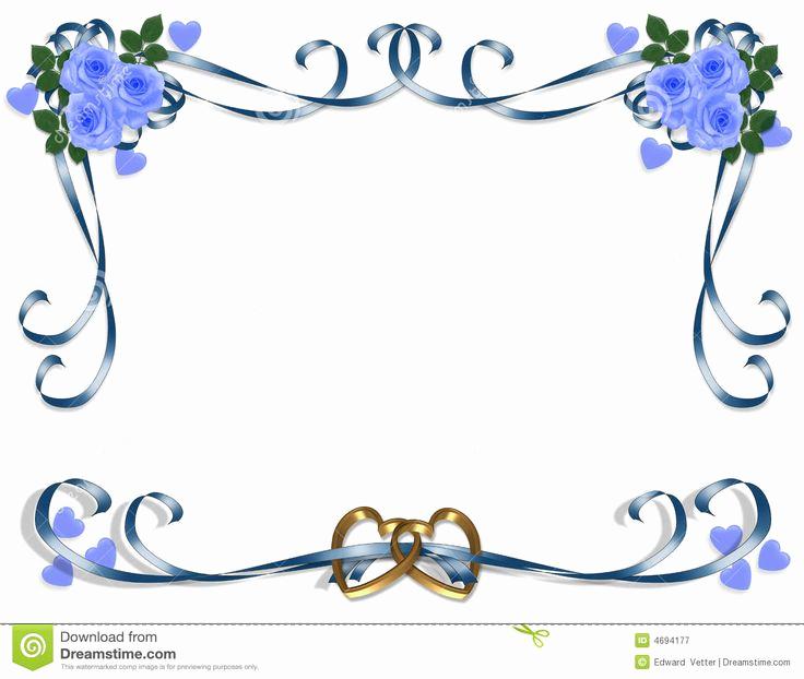 Wedding Invitation Border Designs Unique Blue Wedding Borders Clipart Wedding