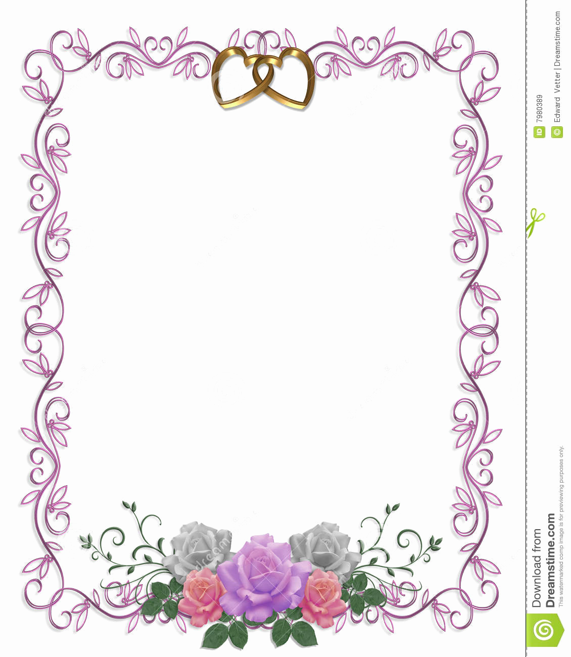 Wedding Invitation Borders Design Best Of Wedding Invitation Floral Border Roses Stock Illustration