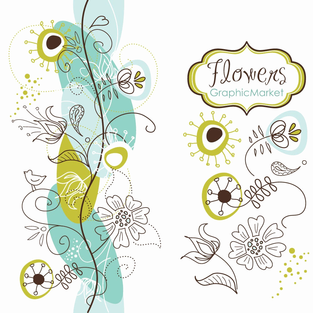 Wedding Invitation Borders Design Elegant 14 Flower Designs and A Floral Border Clipart for