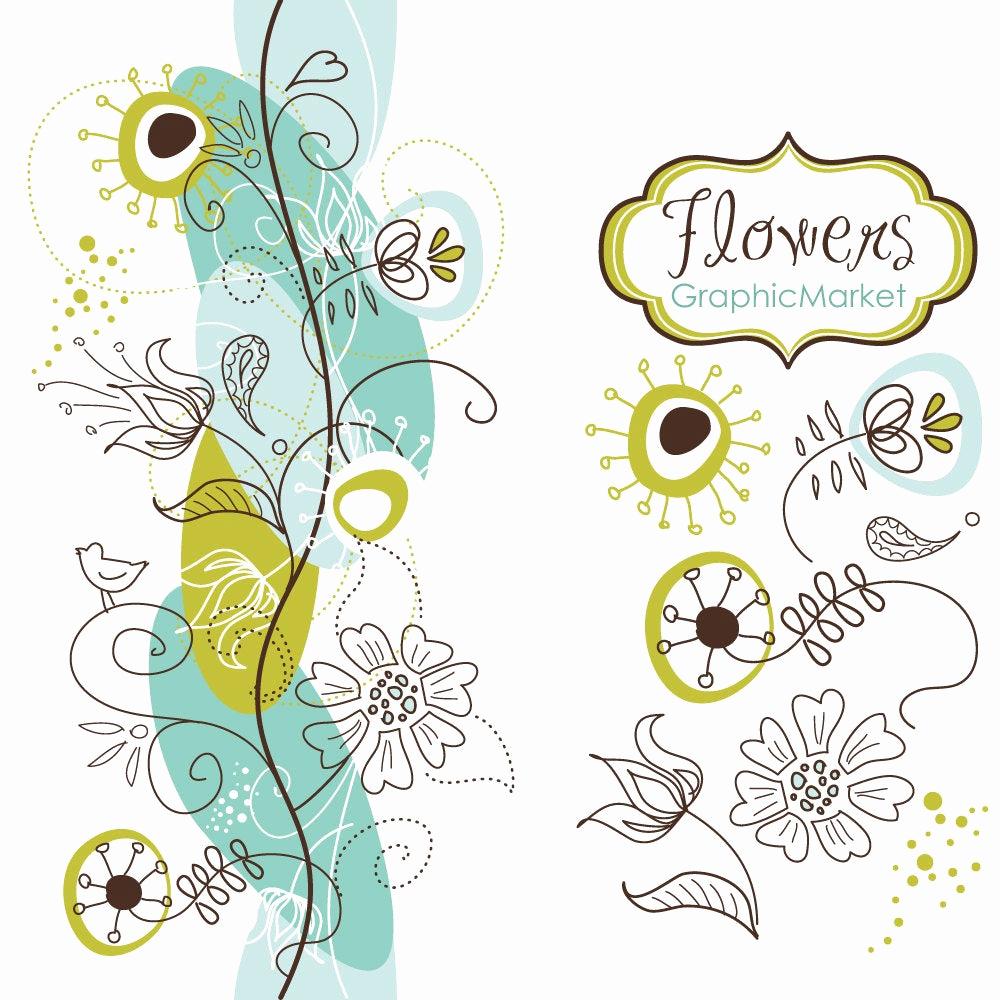 Wedding Invitation Borders Design Elegant 14 Flower Designs and A Floral Border Clipart for