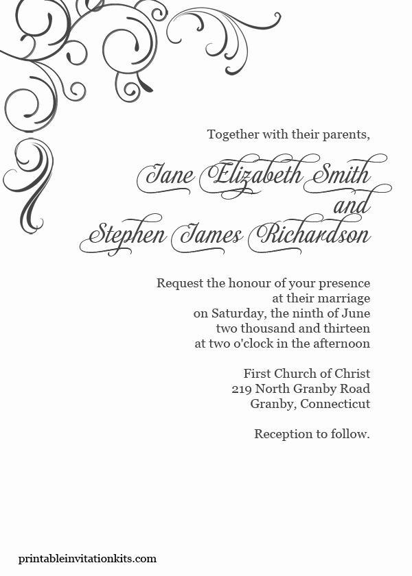 Wedding Invitation Borders Design Fresh Free Pdf Download Simply Elegant Swirls Border Wedding