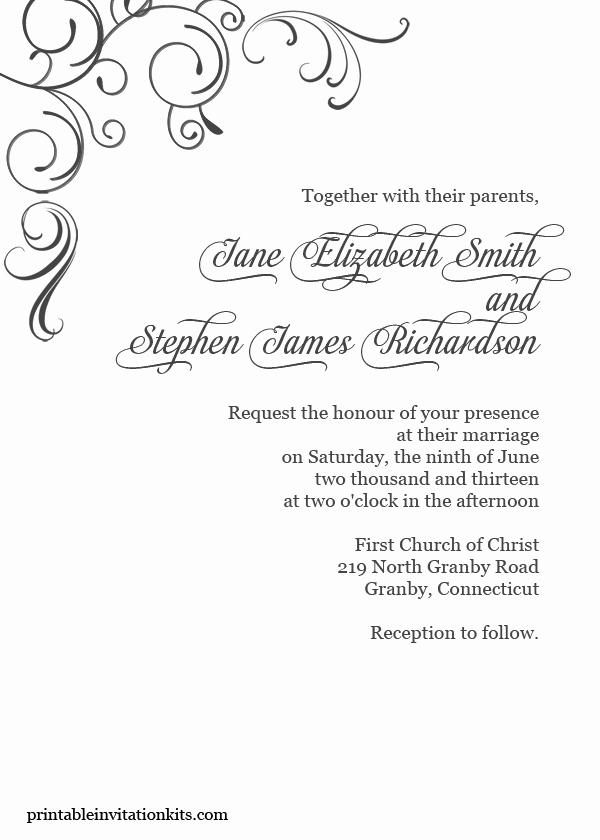 Wedding Invitation Borders Design Fresh Free Pdf Download Simply Elegant Swirls Border Wedding