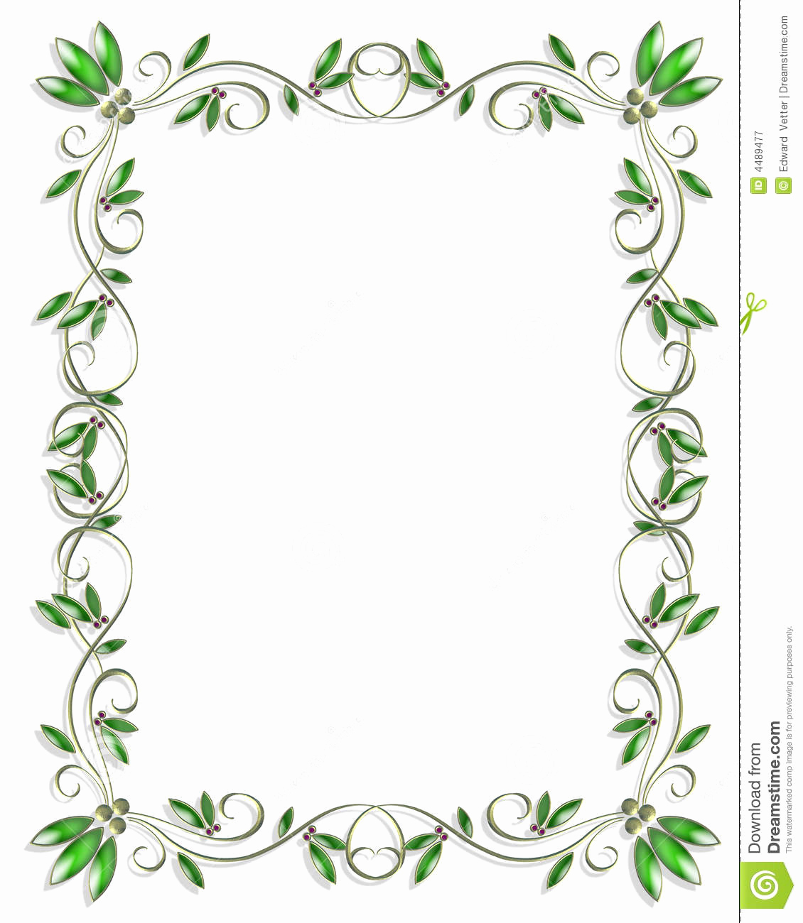 Wedding Invitation Borders Design Inspirational Border Design Element Green 3 Stock Illustration