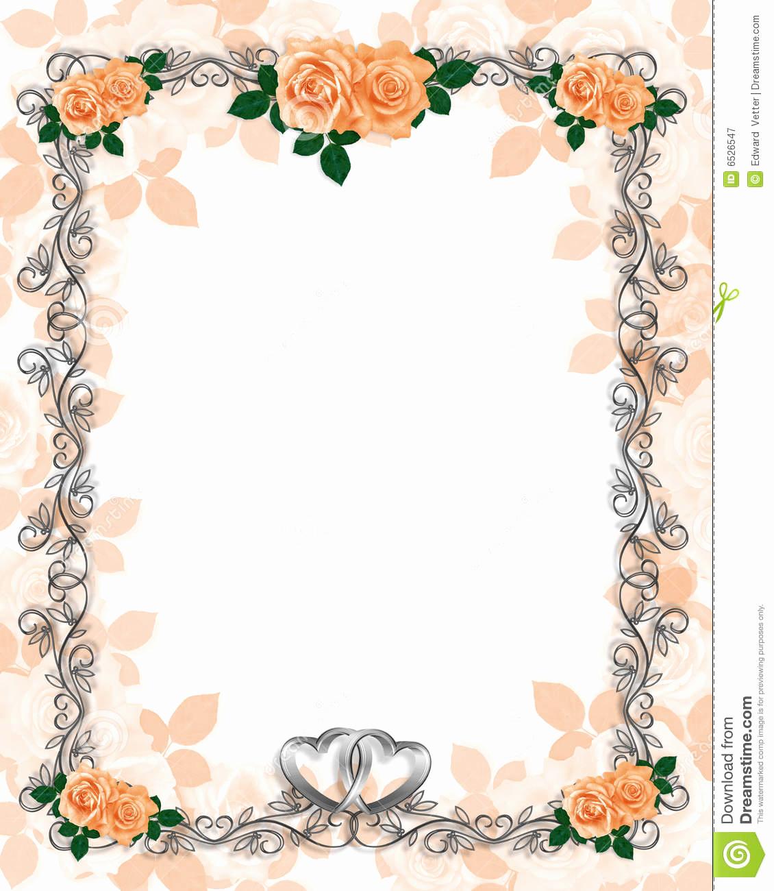 Wedding Invitation Borders Design Inspirational Free Printable Borders for Wedding Invitations