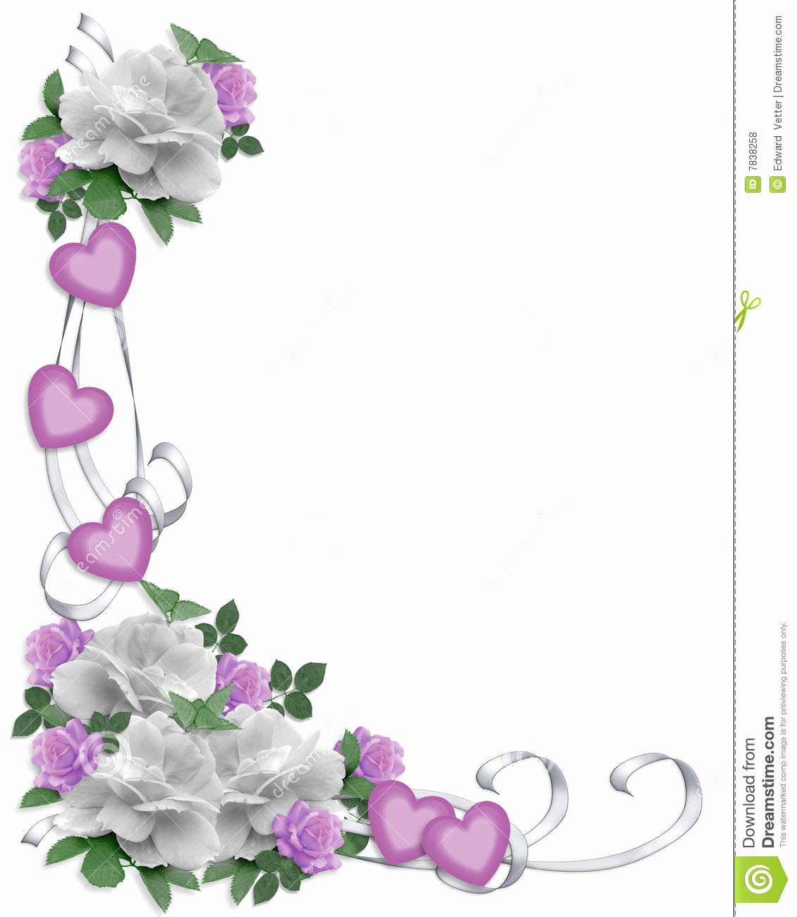 Wedding Invitation Borders Design Inspirational Wedding Invitation Border White Roses