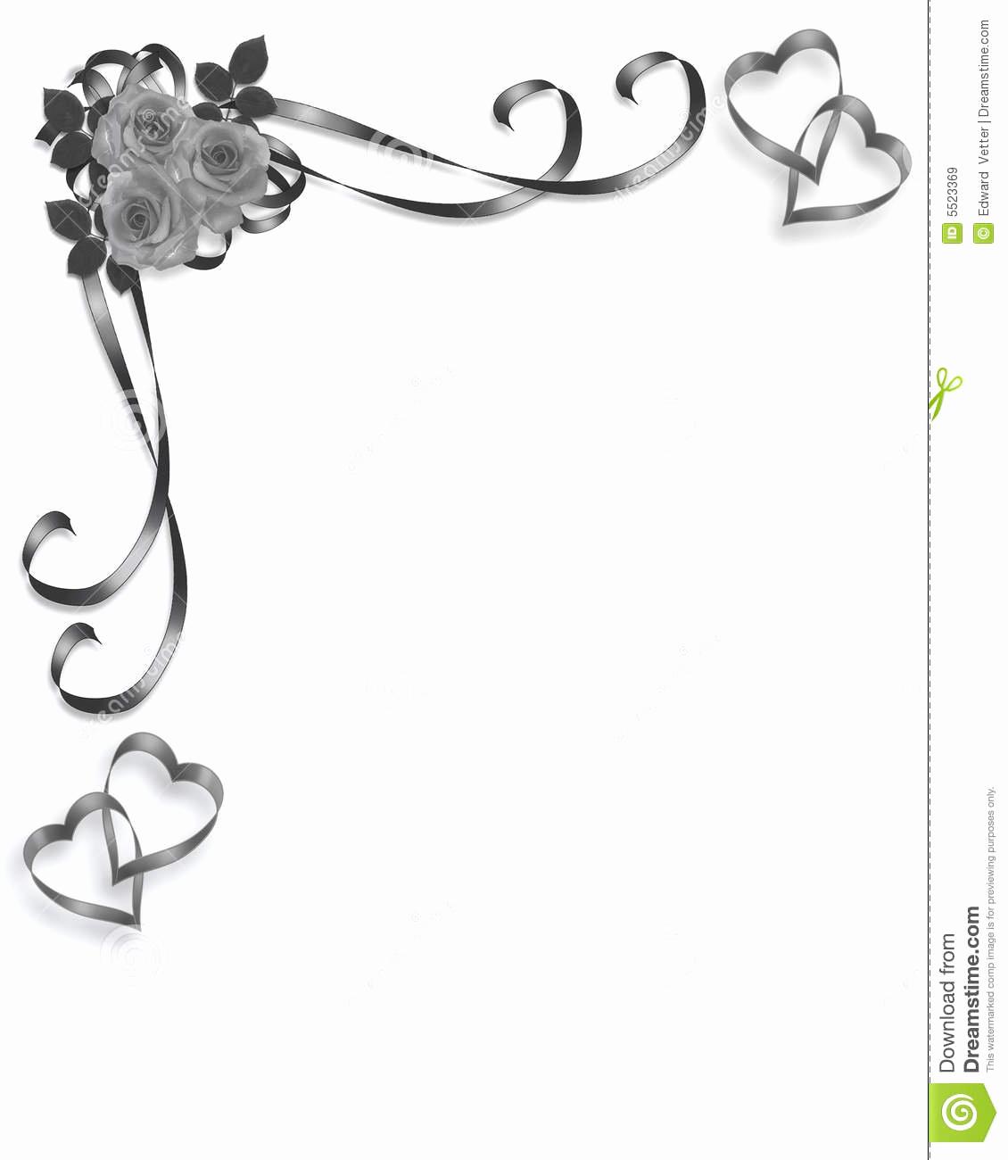 Wedding Invitation Borders Design Lovely Roses Wedding Invitation Vintage Design Stock Illustration