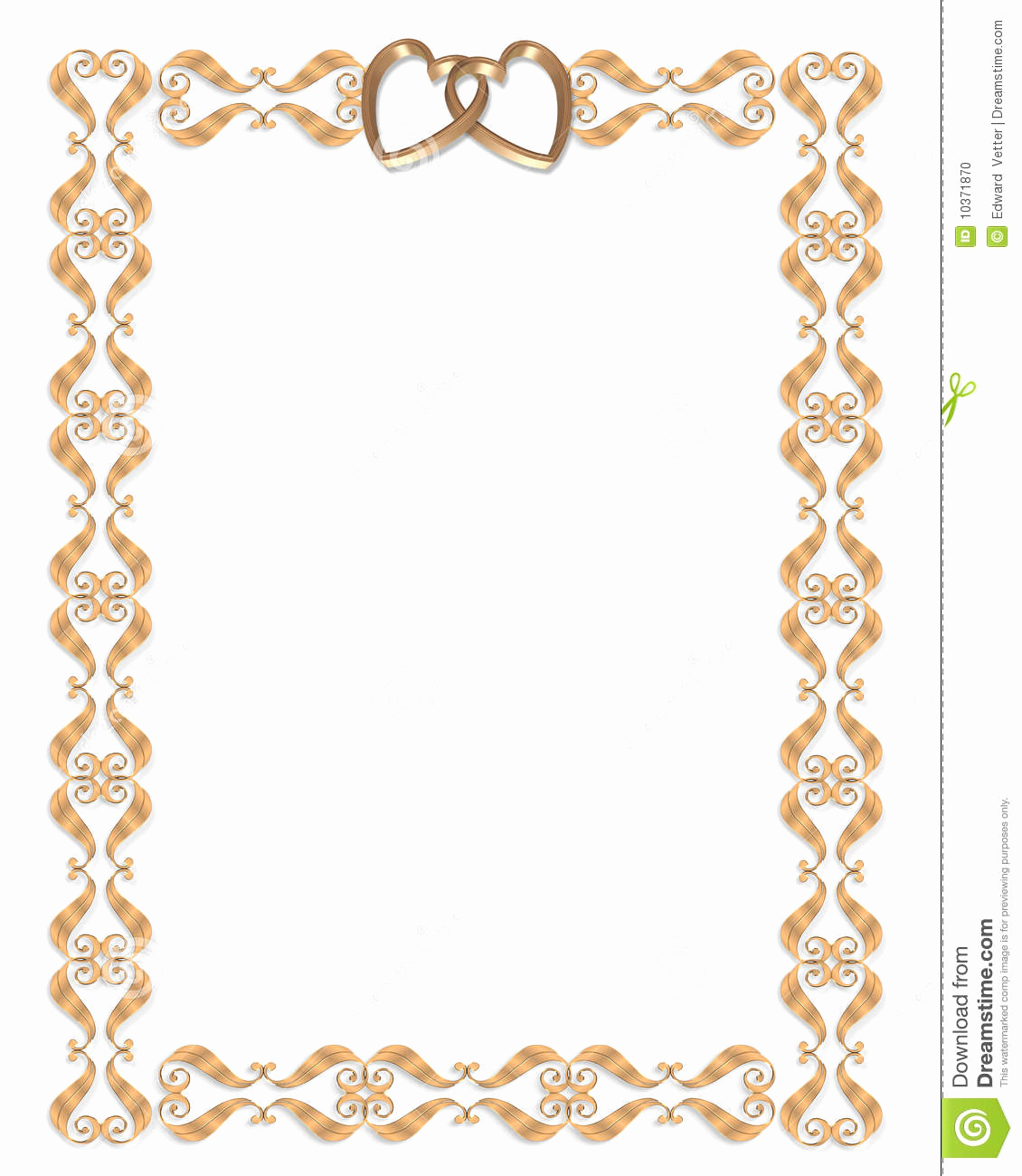 Wedding Invitation Borders Design New 26 Of Golden Wedding Border Template Microsoft Word