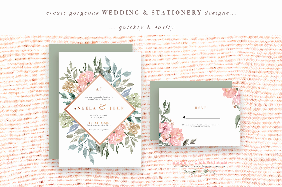 Wedding Invitation Borders Design New Neutral Watercolor Flowers Clipart Floral Borders
