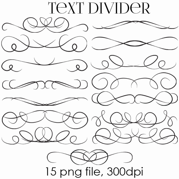 Wedding Invitation Clip Art Fresh Off Sale Text Dividers Digital Clipart Wedding