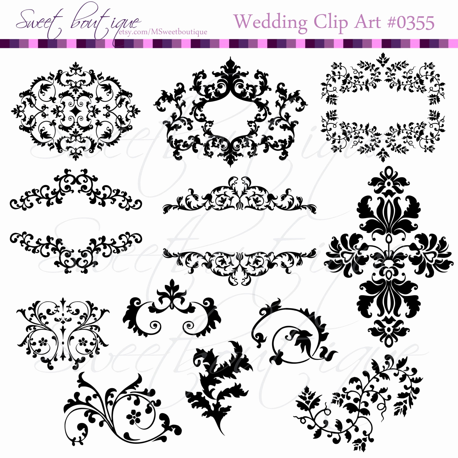 Wedding Invitation Clip Art Luxury Wedding Digital Frames Clip Art Clipart Scrapbook Invitation