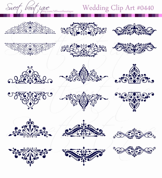 Wedding Invitation Clip Arts Awesome 9 Vintage Calligraphy Clip Art Clipart Diy Wedding Invitation