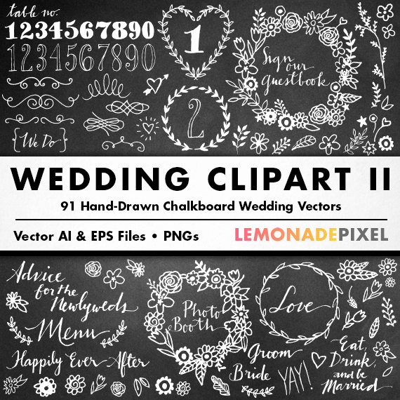 Wedding Invitation Clip Arts Best Of Chalkboard Wedding Clipart Ii Diy Wedding Invitation