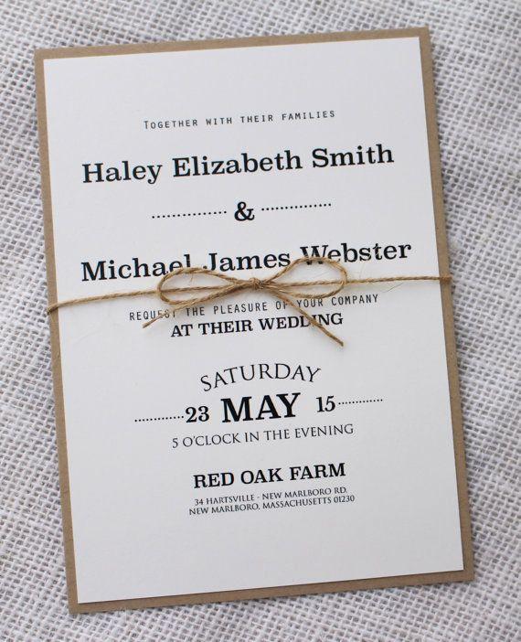 Wedding Invitation Design Ideas Awesome Modern Wedding Invitation Rustic Chic Wedding Invitation