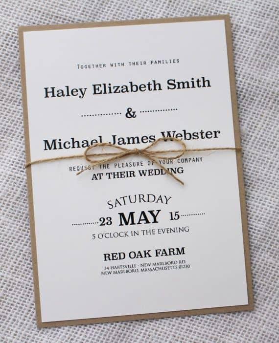 Wedding Invitation Design Ideas Awesome Simple Wedding Invitations Best Photos Cute Wedding Ideas