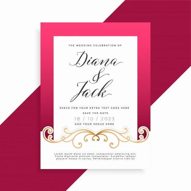 Wedding Invitation Design Ideas Fresh Invitation Vectors S and Psd Files