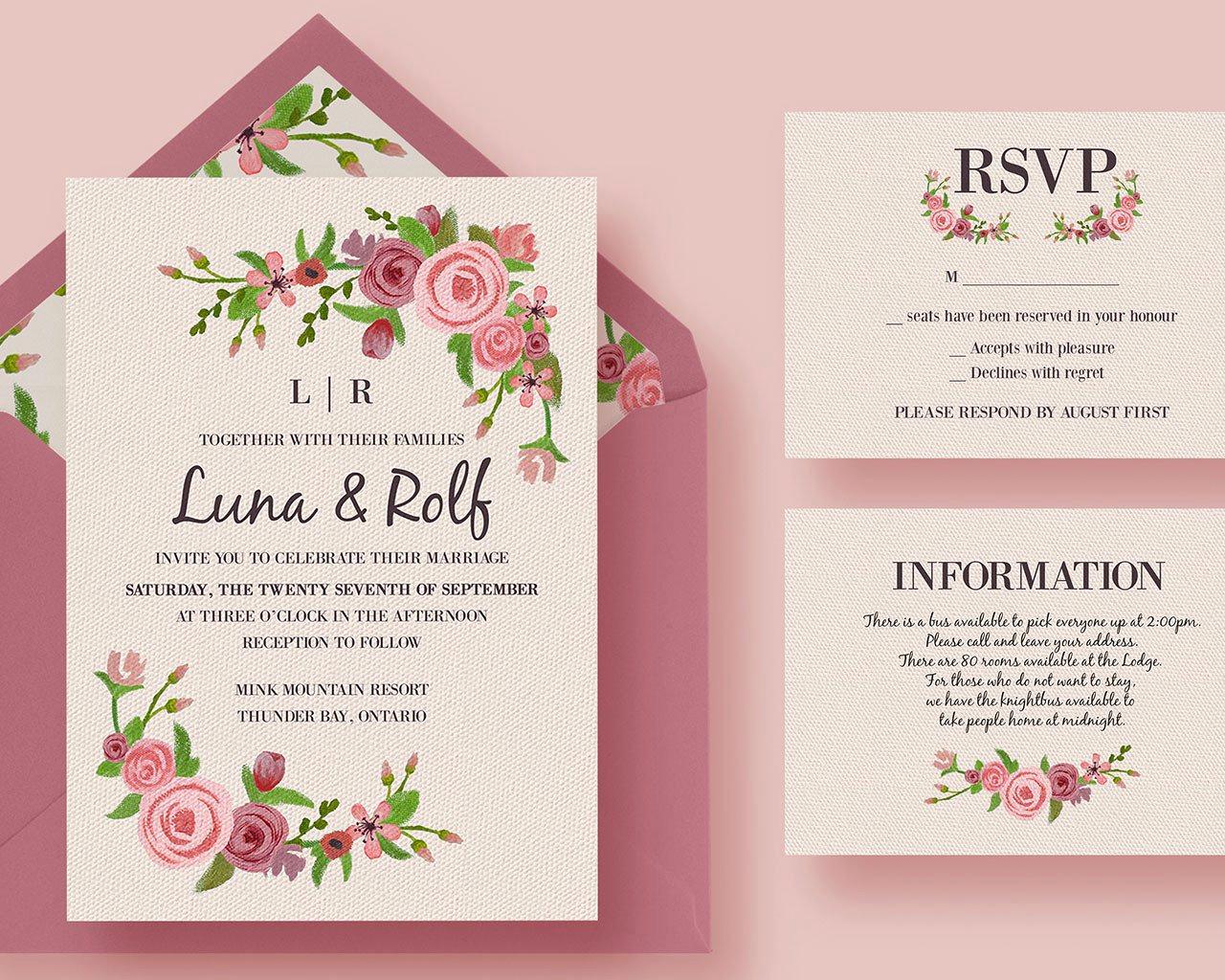 Wedding Invitation Design Ideas Luxury Wedding Invitations Layout Design