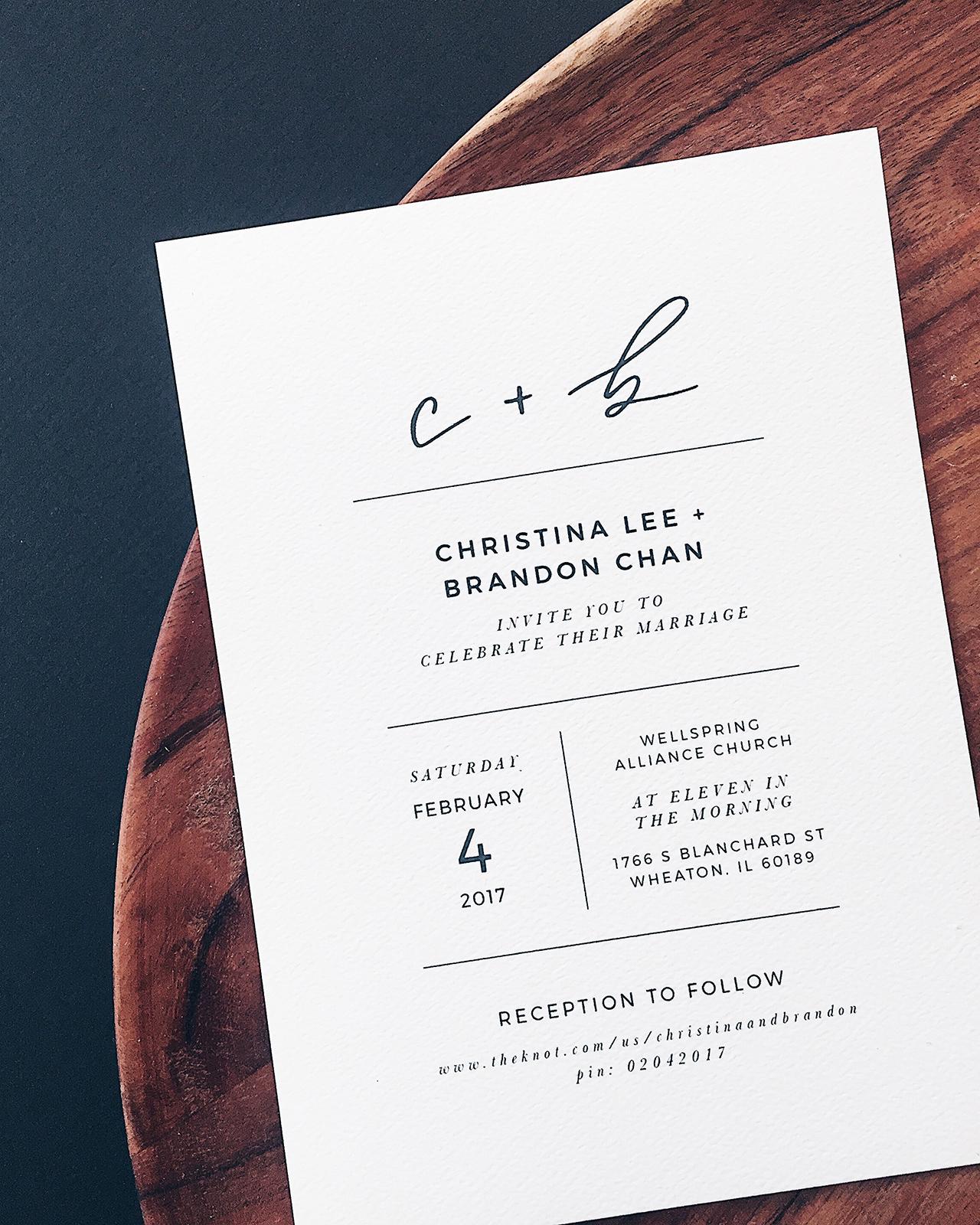 Wedding Invitation Design Ideas New Minimalist Black and White Hand Lettered Wedding Invitations