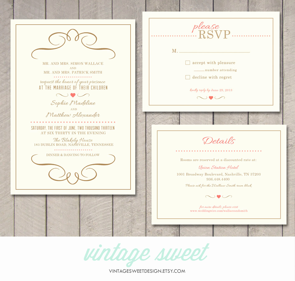Wedding Invitation Details Card Fresh Modern Wedding Invitation Rsvp Information Card Printable
