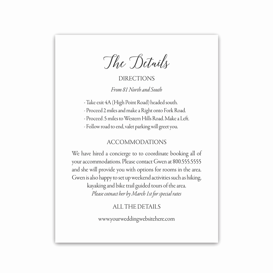 Wedding Invitation Details Card Lovely Modern Handwritten Script Bridal Shower Invitations