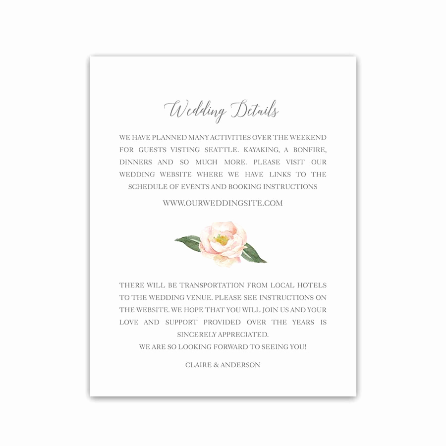 Wedding Invitation Details Card Lovely Wedding Save the Dates Watercolor Floral Greenery