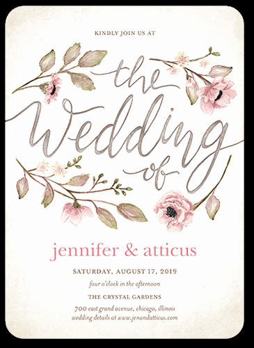 Wedding Invitation Details Card New Delightful Blooms 5x7 Wedding Invitation Cards