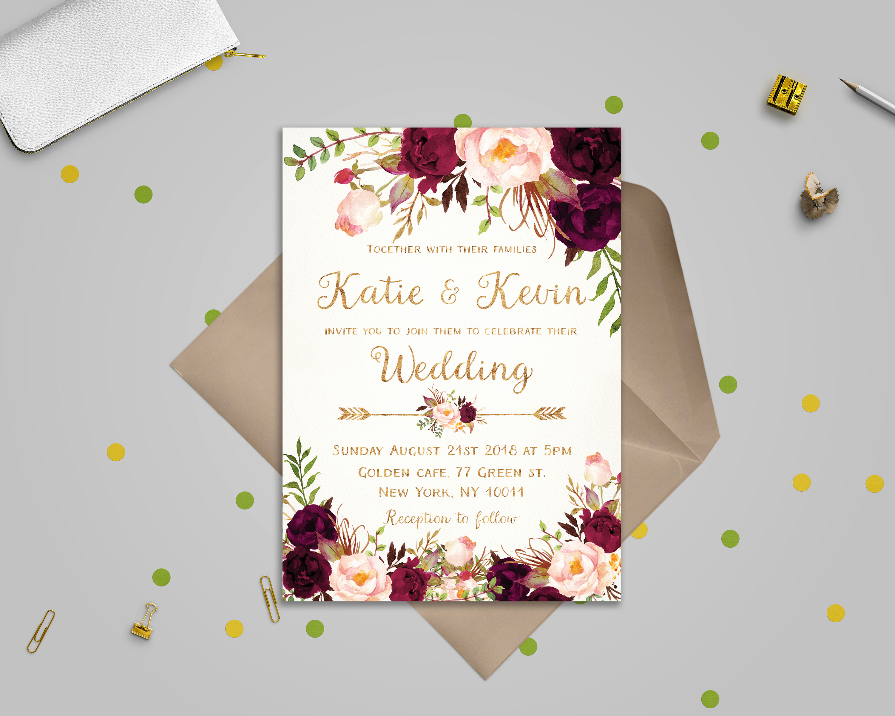 Wedding Invitation Details Card Unique Floral Wedding Invitation Template Wedding Invitation