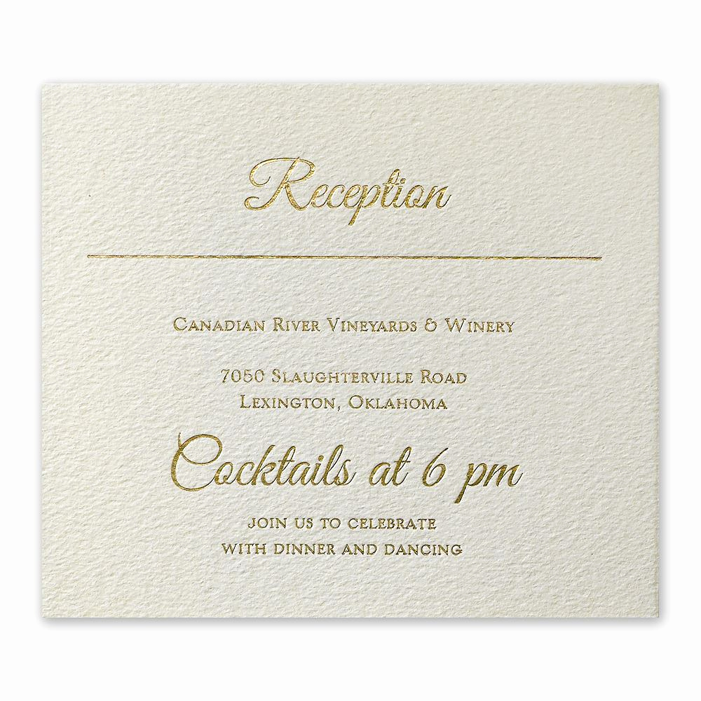 Wedding Invitation Details Card Unique Layers Of Luxury Gold Foil Information Card