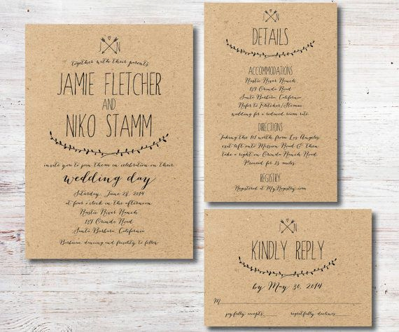 Wedding Invitation Details Card Wording Unique Rustic Wedding Invitation Rsvp Details Card by