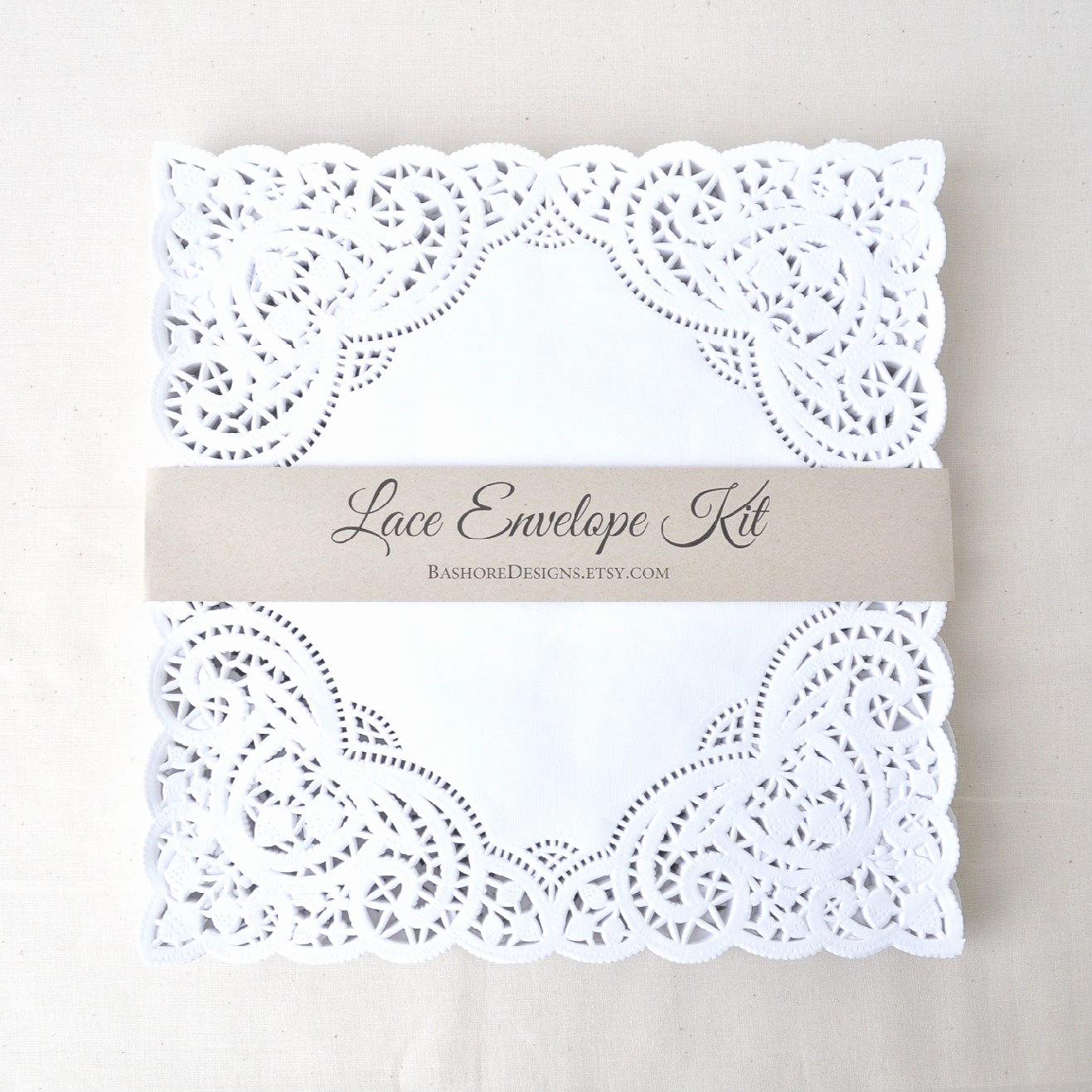 Wedding Invitation Envelope Template Beautiful Diy Lace Envelope Kit Wedding Invitation Envelope Liners