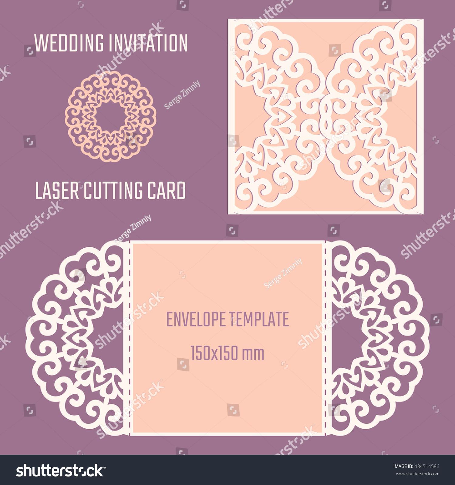 Wedding Invitation Envelope Template Best Of Diy Laser Cutting Vector Envelope Wedding Stock Vector