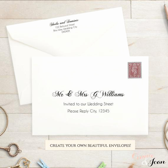 Wedding Invitation Envelope Template Best Of Printable Wedding 9x6 Envelope Template Invitation Envelope